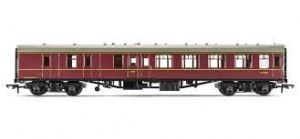 Hornby R4352 [RAILROAD] BR Mark 1 Brake 2nd, Maroon Livery